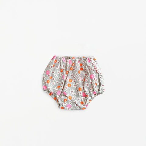 French Chic Baby Bloomers- Gray Floral