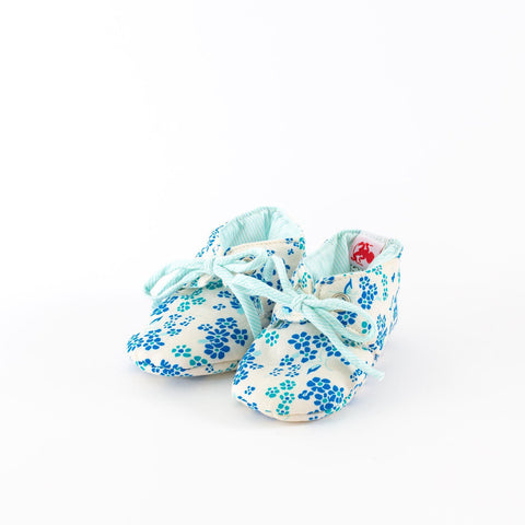 French Chic Baby Shoes-Blue Floral