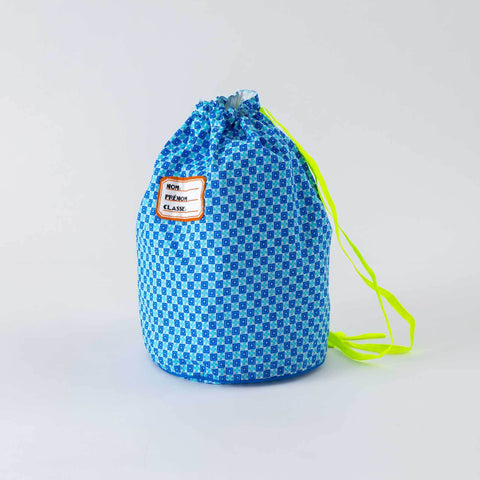 French Pool Bag- Pattern #2 Blue