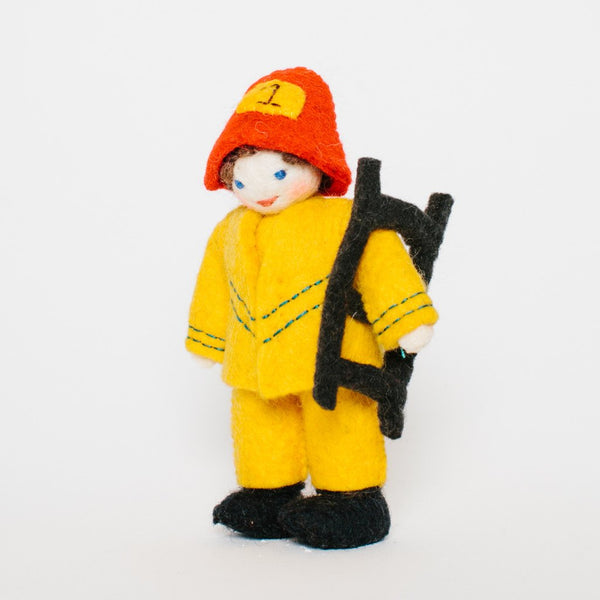 Wool Felt: Firefighter Kid Toy