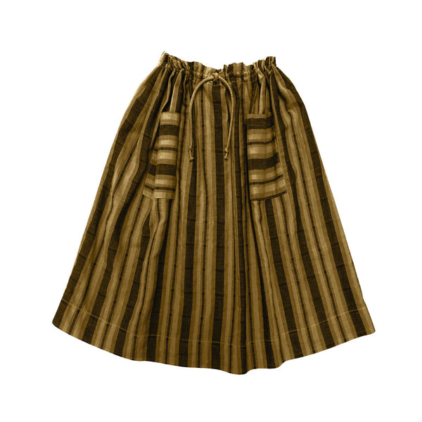 Petra Stripe Skirt- Chartreuse