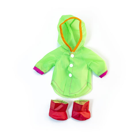 Doll Outfit: Raincoat and Boots 12""