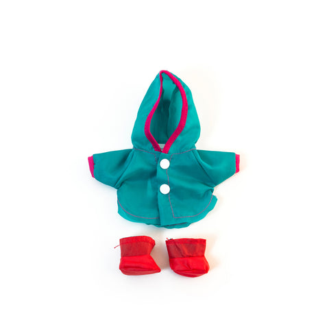 Doll Outfit: Raincoat and Boots 8""