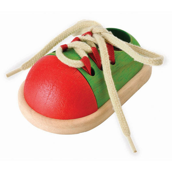 Wooden Tie-up Shoe Toy
