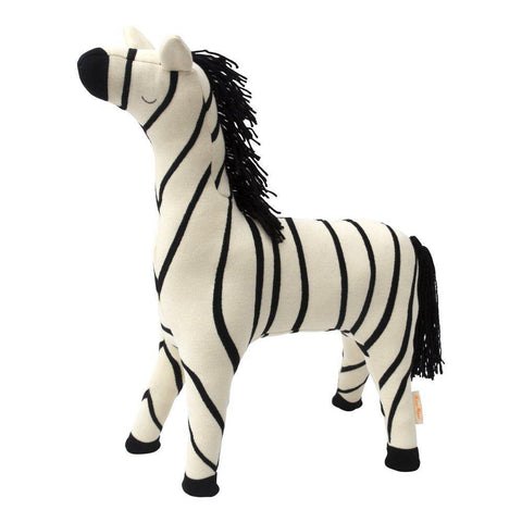 Zebra Knitted Doll