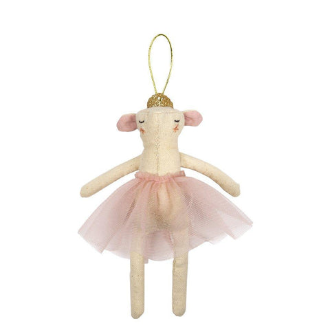 Ballerina Mouse Tree Ornament
