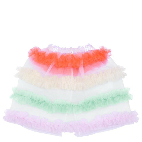 Neon Tulle Ruffle Capelet