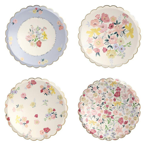 English Garden Party Large Plate Set