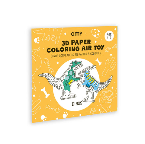 3D Dino Coloring Air Toy