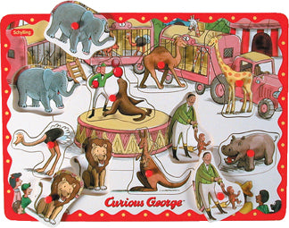 Curious George- Wooden Peg Puzzle