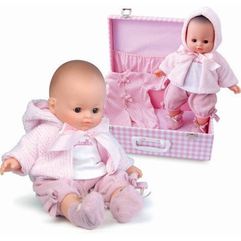 PetitCollin Mon Bebe Baby Doll with Trunk Set