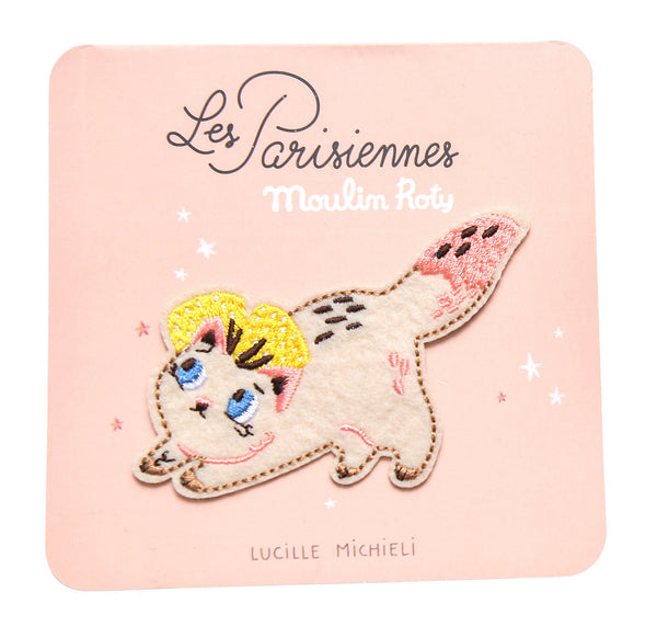 Les Parisiennes Kitty Embroidered Patch