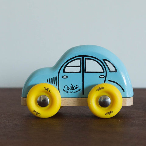 Mini Blue Wooden Car