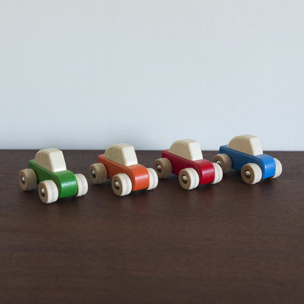Pullback Wooden Cars