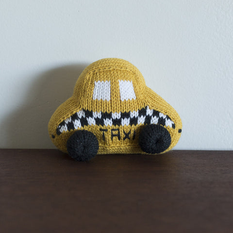 Organic Taxi Toy Baby Rattle