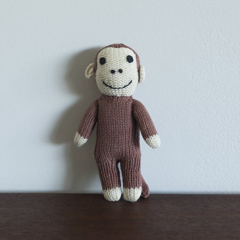 Organic Monkey Toy Baby Rattle