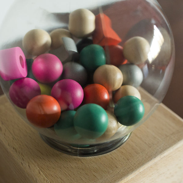 Wooden Gumball Machine Toy