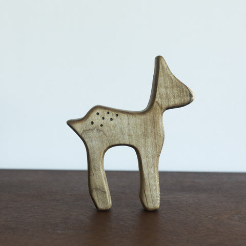 Deer Wooden Teether Dark Wood
