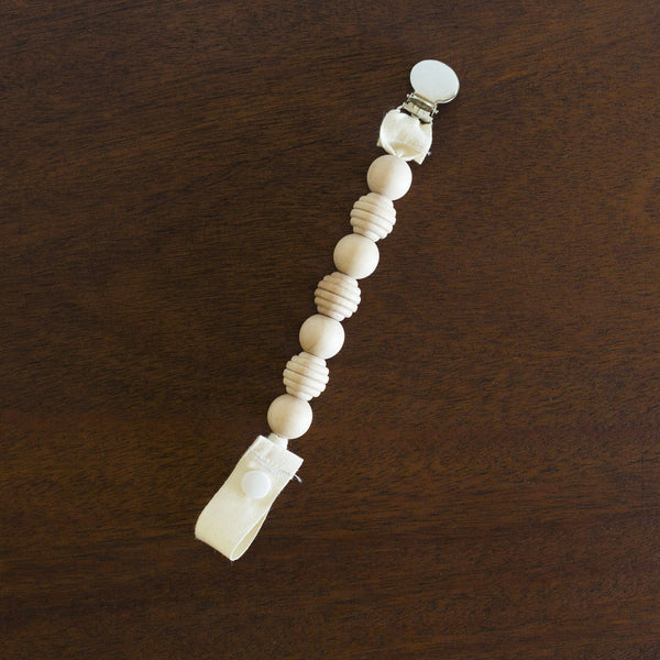 Wood Bead Pacifier Holder