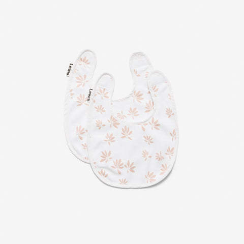 Bib Set of Two- Palm Blush
