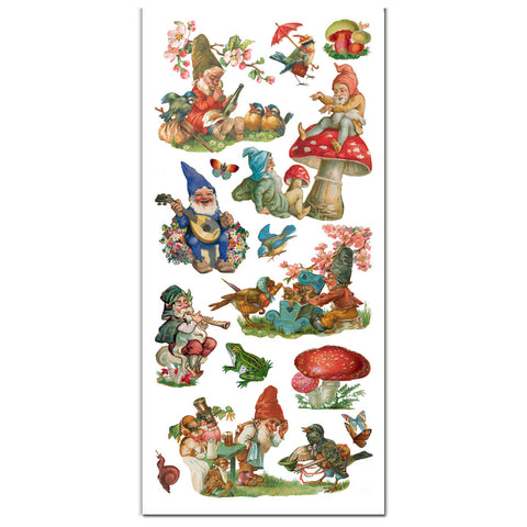 Gnome and Toadstool Stickers