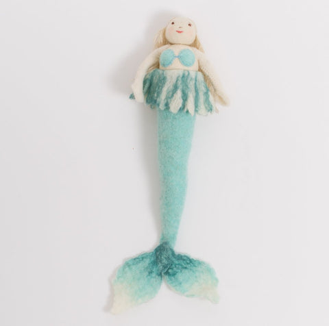 Wool Felt: Maya Mermaid Toy- Ice Blue