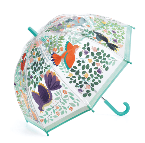 Children's Umbrella- Flowers and Birds