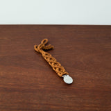 Organic Macrame Baby Pacifier Clip Holder- Brown