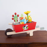 Wooden Wheelbarrow Garden Set