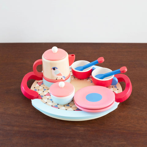 Bird's Tea Party Wooden Toy Set