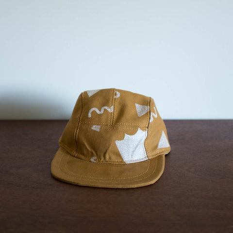 Kids Gold Printed Hat by Pulp