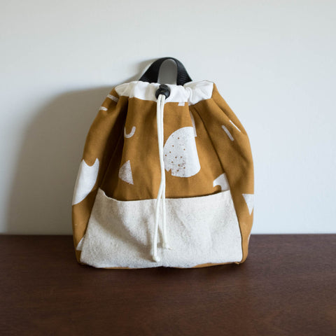 Kids Gold Printed Backpack by Pulp