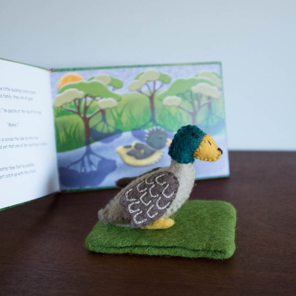 Felt Duck Book and Doll Set