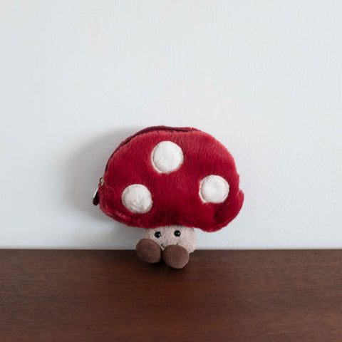 Amuseable Mushroom Zip Pouch Bag