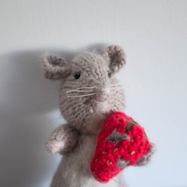 One of a Kind Mouse with Strawberry Doll