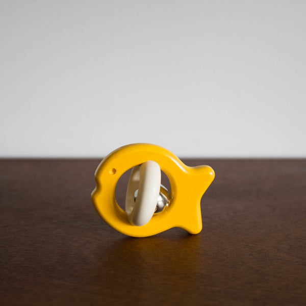 Wooden Fish Rattle- Yellow