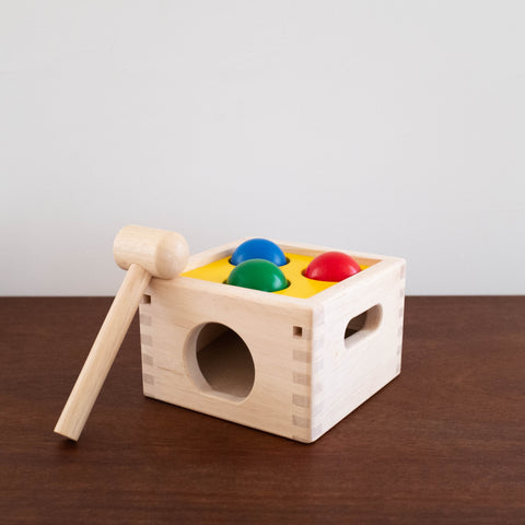Punch and Drop Wooden Ball Toy