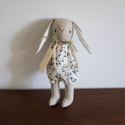 Yume Bunny with Romper Doll- White Floral Liberty