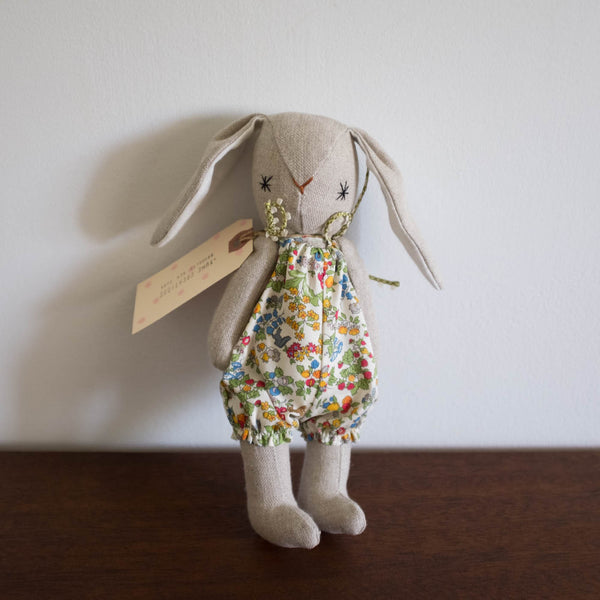 Yume Bunny with Romper Doll- Floral Liberty
