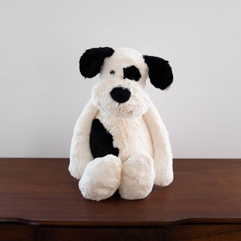 Bashful Black and Cream Puppy Doll-Huge