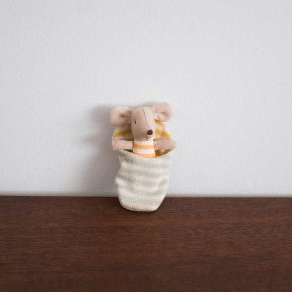 Baby Mouse in Sleeping Bag Doll
