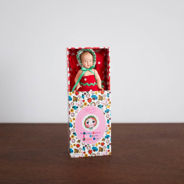 Mini Doll with Bedding in Matchbox Set
