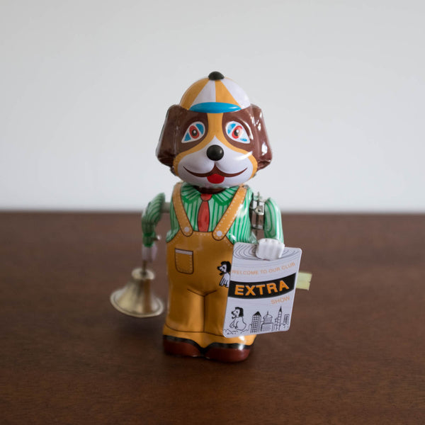 Dog Rings Bell Tin Toy