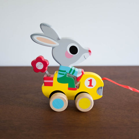 Roulapic Bunny Pull Toy