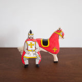 Holztiger Red Knight and Horse Set