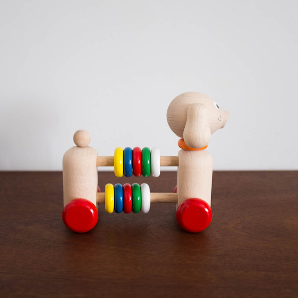 Wooden Dog Rainbow Abacus Toy