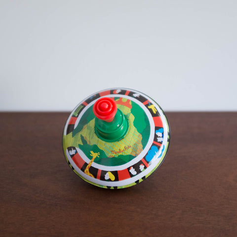 Retro Spinning Tin Top Toy