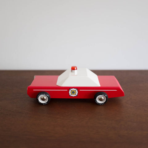 Firechief the Wooden Car Toy