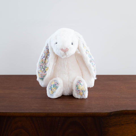 Bashful Floral Bunny- Cream