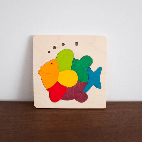 Wooden Puzzle: Fish